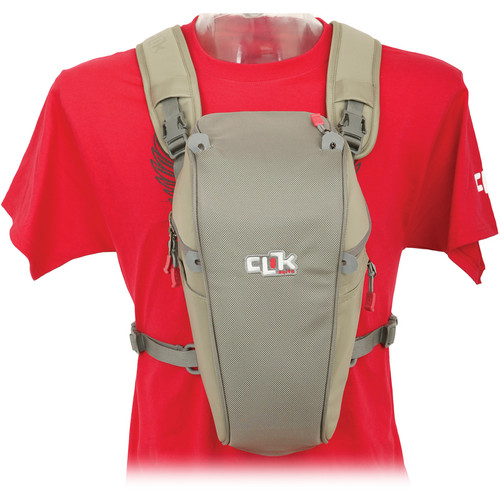 "Clik Elite Telephoto SLR Chest Carrier (12.6 x 7.5 x 6"", Gray)"