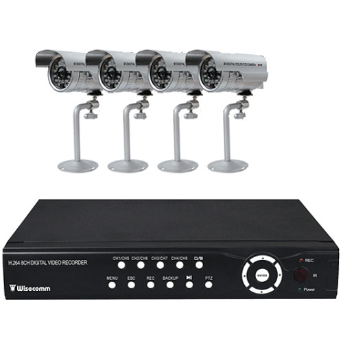 Clover Electronics 8-Channel H.264 DVR Bundle System with 4 Night Vision Color Cameras