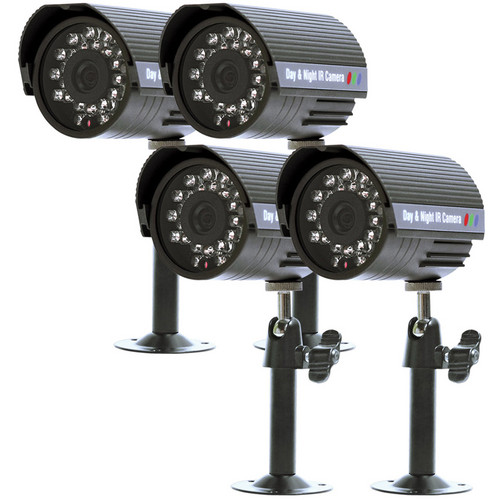 Clover Electronics Day/Night Security Color Cameras (Set of 4)
