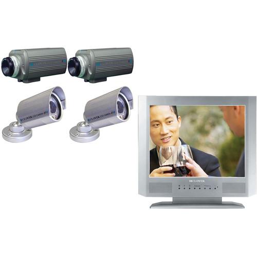 Clover Electronics TFT1504Q Surveillance Package - Kit Includes:
