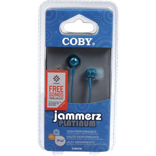 Coby CVEM79 In-Ear Stereo Headphones (Blue)