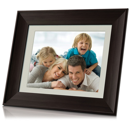 "Coby DP1052 10"" Digital Photo Frame with Multimedia Playback (Wooden)"
