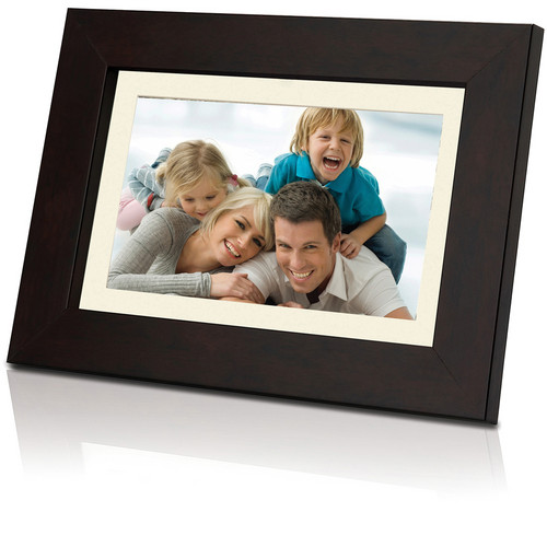 """Coby DP1452 14"""" Digital Photo Frame with Multimedia Playback (Wooden)"""