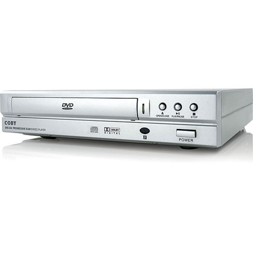 coby dvd 224 compact dvd player silver dvd224 b h photo video. Black Bedroom Furniture Sets. Home Design Ideas