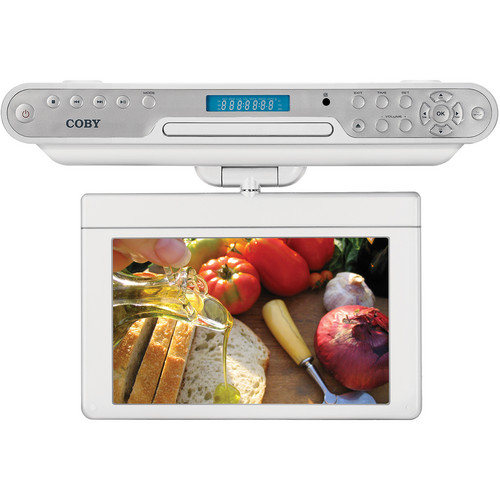 "Coby KTFDVD7093 7"" TFT Under Cabinet TV And DVD/CD Player"