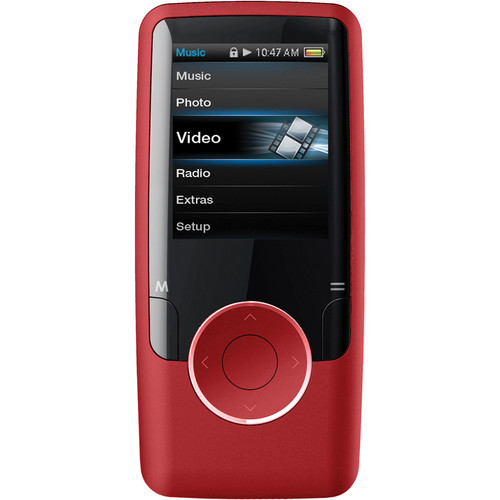 Coby MP620 MP3 Player (Red)