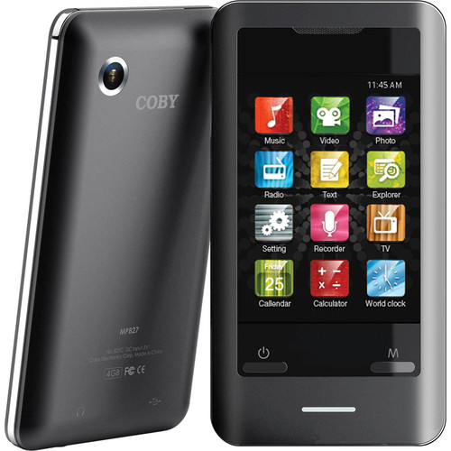 "Coby 4GB MP828-4G 2.8"" Touchscreen Video MP3 Player"