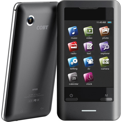 "Coby 8GB MP828-8G 2.8"" Touchscreen Video MP3 Player"