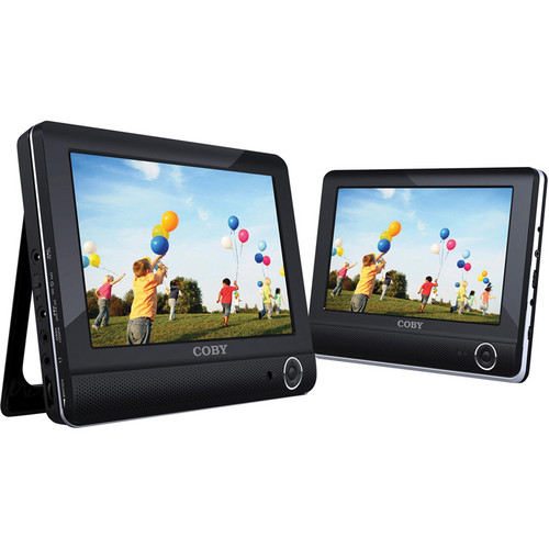 "Coby TFDVD9952 9"" Dual Screen Tablet Portable DVD Player"