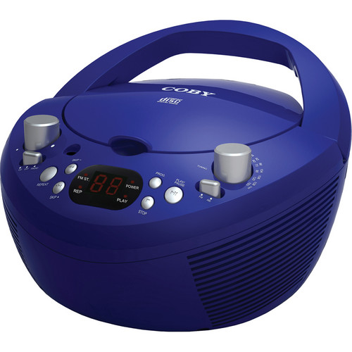Coby CXCD251 Portable CD Player with AM/FM Stereo Tuner (Blue)