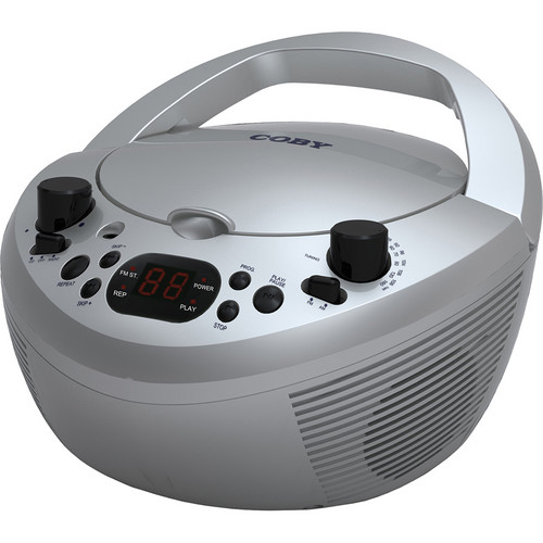 Coby CXCD251 Portable CD Player with AM/FM Stereo Tuner (Silver)