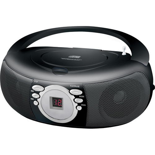 Coby CXCD275 Portable CD Stereo With AM/FM Stereo Tuner (Black)