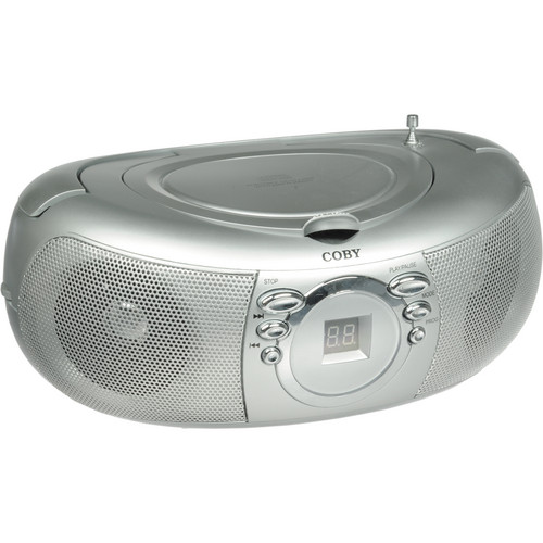 Coby CXCD275 Portable CD Stereo With AM/FM Stereo Tuner (Silver)