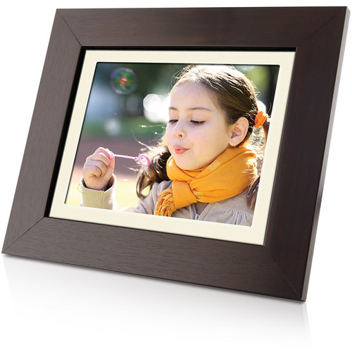 "Coby DP843WD 8"" Digital Photo Frame With Multimedia Playback (Wooden)"