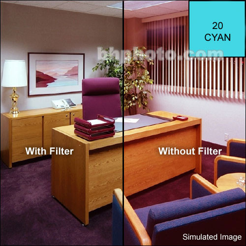 Cokin A701 Color Compensating CC10C (Cyan) Resin Filter