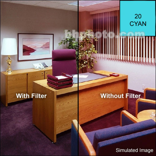Cokin A707 Color Compensating CC40C (Cyan) Resin Filter