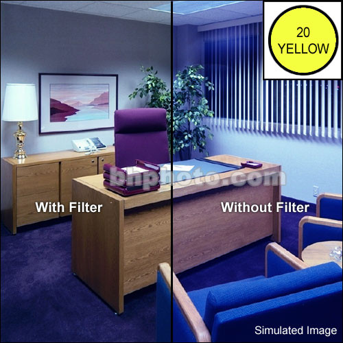 Cokin P723 Color Compensating CC20Y (Yellow) Resin Filter