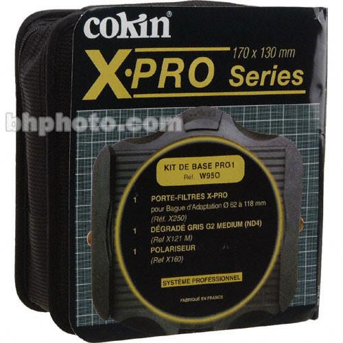 Cokin X-Pro W950 Pro Basic Filter Kit 1: Includes X-Pro Filter Holder, Linear Polarizer (X160) and Gradual Grey G2 Medium Filter (X121M)