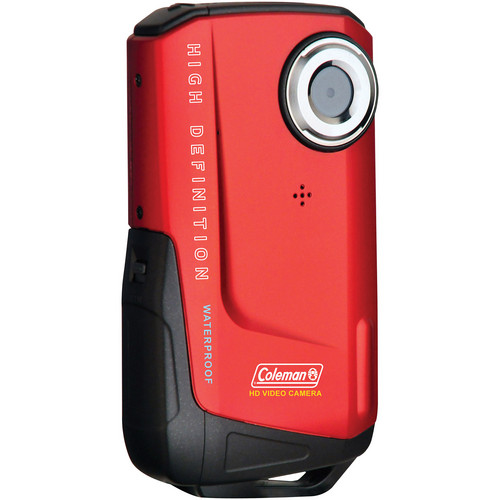 Coleman Waterproof HD Pocket Video Camera (Red)