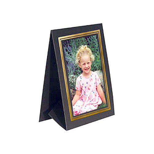 "Collector's Gallery Grandeur Easel Frame -with Gold Foil Window Border  Model PF5130-46 - for 4 x 6"" Print (Portrait Format)"