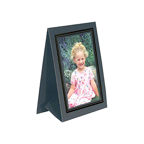 "Collector's Gallery Grandeur Easel Frame -with Black Foil Window Border  Model PF5150-46 - for 4 x 6"" Print (Portrait Format)"