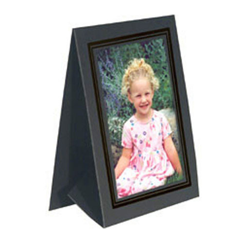 "Collector's Gallery Grandeur Easel Frame -with Black Foil Window Border  Model PF5150-57 - for 5 x 7"" Print (Portrait Format)"