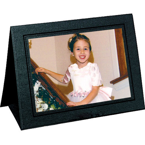 "Collector's Gallery Grandeur Easel Frame -with Black Foil Window Border  Model PF515064  - for 6 x 4"" Print (Landscape Format)"