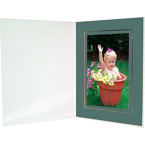 "Collector's Gallery Premium Event Photo Folder for 4 x 6"" Print, Model (Portrait Format)  PF5302-46  (Pine Green)"