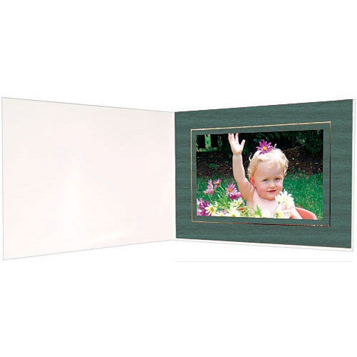 "Collector's Gallery Premium Event Photo Folder for 4 x 6"" Print, Model (Landscape Format)  PF5302-64 (Pine Green)"