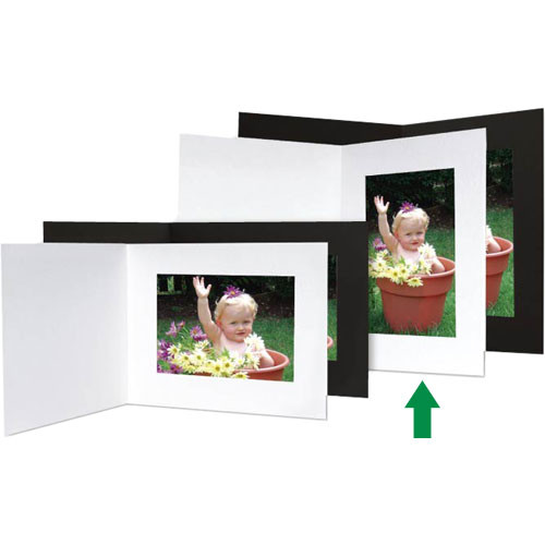 """Collector's Gallery Event Folder With Plain Border for 4 x 6"""" Print (Portrait, White, 25 Folders)"""
