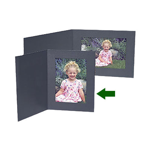 "Collector's Gallery Contemp. Black Portrait Folder w/o Border for 5 x 7"" Print , Model PF5400-57"