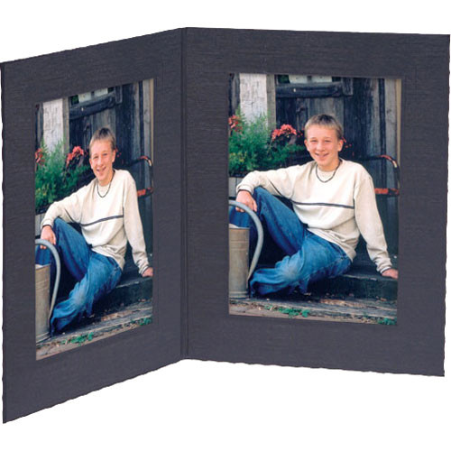 "Collector's Gallery Double View Portrait Folder - Contemporary Style without Foil Border , Model PF5402-46 - for 4 x 6"" Prints (Portrait Format) - 25 Folders"