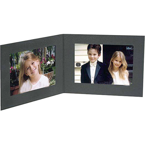 "Collector's Gallery Double View Folder-Contemporary Style  without Foil Border , Model PF5402-64-for 4 x 6"" Prints (Landscape Format)"