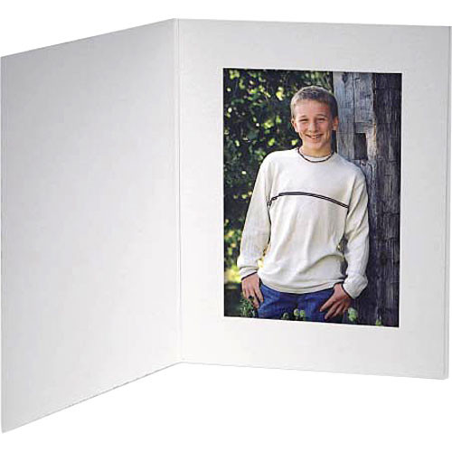 "Collector's Gallery White Contemporary  Portrait Folder with Plain Border  for 4 x 5"" Print , Model PF5410-45 (Portrait Format)"