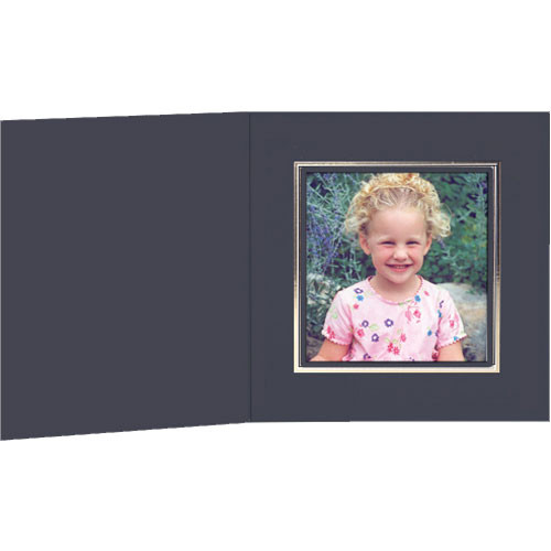 Collector's Gallery Black Classic Portrait Folder with Gold Foil Border for Polaroid 600 Film (25 Folders)