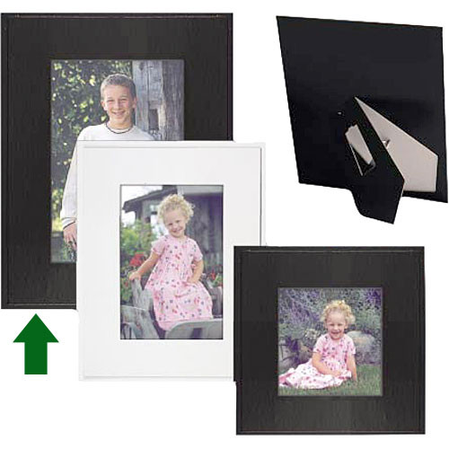 "Collector's Gallery Sturdy Easel Frame  for 4 x 6"" Print , Model PF5815-46  (Black)"