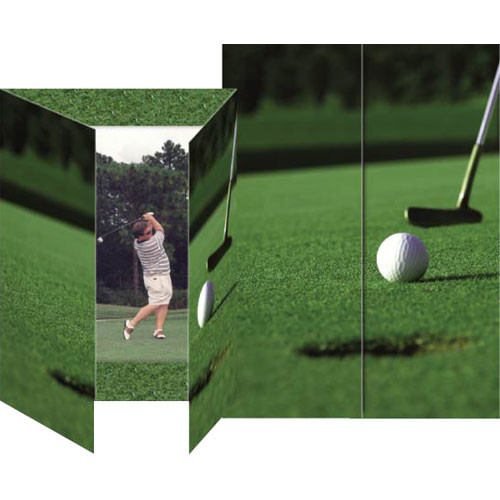 "Collector's Gallery Gate Event Golf Photo Folder, 5 x 7""  Model PF5850V   (Portrait Format)"