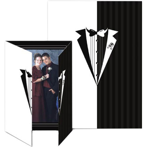 "Collector's Gallery Gate Event Tuxedo Photo Folder, 5 x 7""  Model PF5851V   (Portrait Format)"