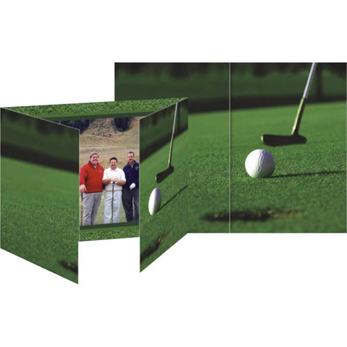 "Collector's Gallery Gate Event Golf Photo Folder, 4 x 6""  Model PF5854H   (Landscape Format)"