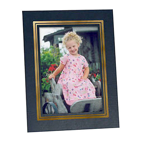 "Collector's Gallery Easel Picture Frame for 5 x 7"" Print  with Gold Border , Model PF5930-57"