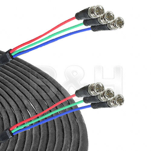 Comprehensive 3-BNC Male to 3-BNC Male Component Cable - 25 ft