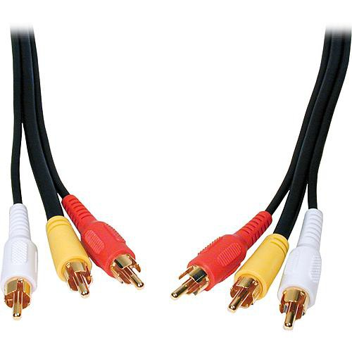 Comprehensive 3-RCA Male to 3-RCA Male Cable - 6 ft