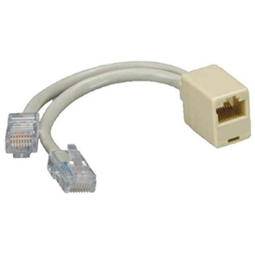 "Comprehensive Cat 5e 2 Male / 1 Female T Adapter - 6"" (15.24 cm)"