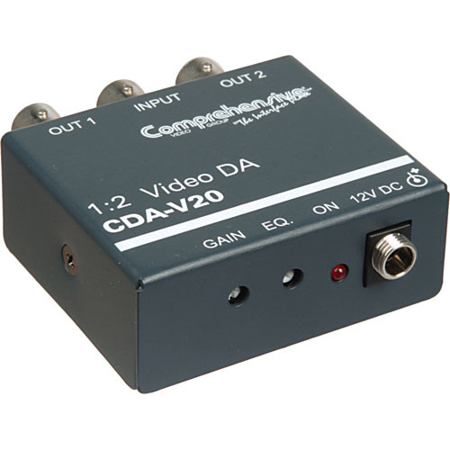 Comprehensive CDA-V20 1x2 Composite Video Distribution Amplifier