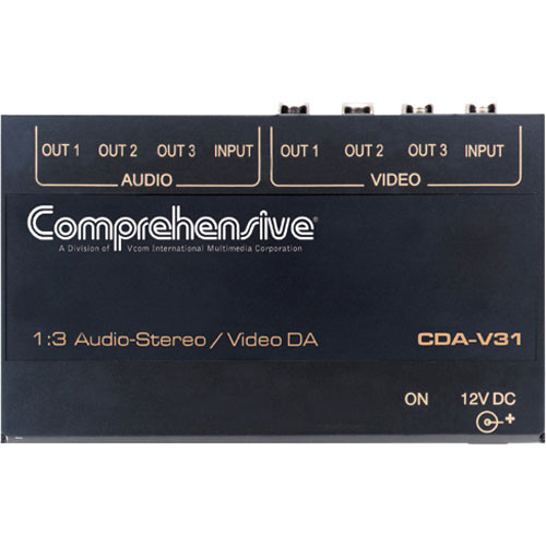 Comprehensive CDA-V31 1x3 Composite Video & Stereo Audio Distribution Amplifier