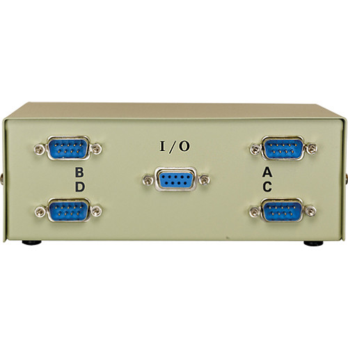 Comprehensive CSWM-DB91X4 DB9/RS-232C Female Data Switch Box