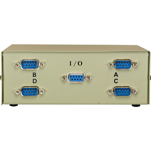 Comprehensive CSWM-DB9-1X4MF DB9/RS-232C Male Data Switch Box