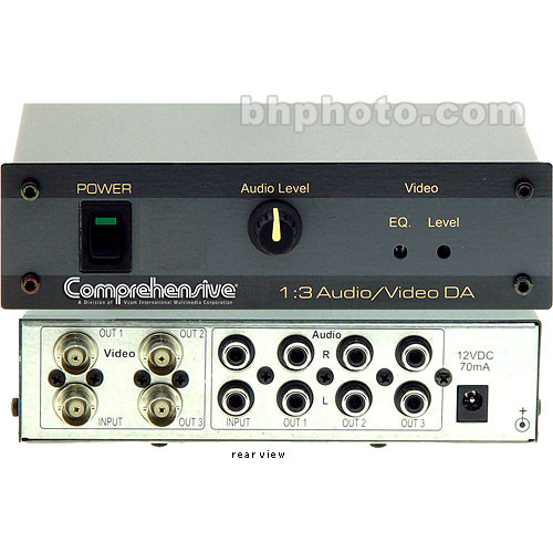 Comprehensive VM-30AVB 1x3 Audio Video Distribution Amplifier