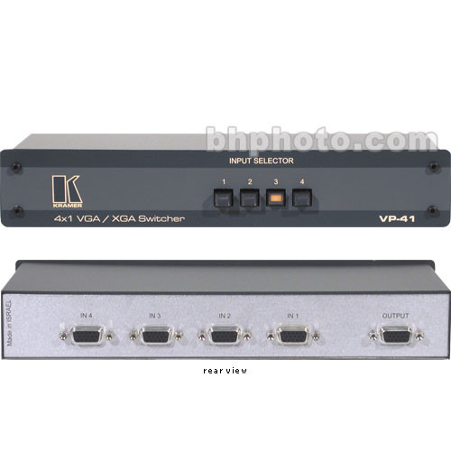 Comprehensive VP-41 4x1 VGA / XGA Mechanical Switcher, HD-15