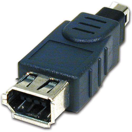Comprehensive IEEE 1394 6-Pin Jack to 4-Pin Plug Adapter